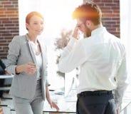 业务会议有商务伙伴的女商人 免版税图库摄影