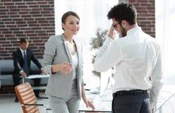 业务会议有商务伙伴的女商人 免版税库存图片