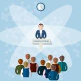 业务会议概念销售方针配合 向量例证
