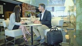 业务会议男人和妇女 股票录像