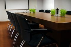 业务会议空的空间 免版税图库摄影