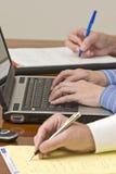 业务会议笔记采取 免版税库存照片