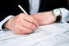 业务单据人 免版税图库摄影