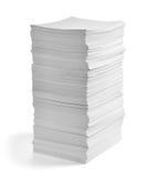 业务单据办公室纸叠 免版税图库摄影