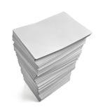 业务单据办公室纸叠 免版税库存照片