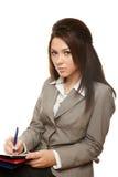 业务单据符号妇女 免版税库存照片