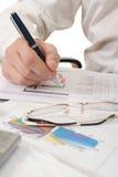 业务单据递人员工作 免版税库存图片