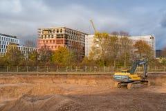 业务发展中心有机电子的建造场所:土堤 海得尔堡,德国- 2017年11月19日 库存照片