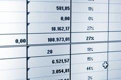 业务数据 免版税库存照片