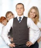 业务组愉快的人年轻人 免版税库存照片