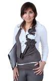业务经理微笑的妇女 免版税库存照片