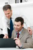 业务经理监督的工作 免版税库存照片
