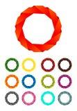 业务设计摘要圈子丝带徽标 免版税库存照片