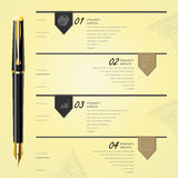 业务设计模板, infographic和网站 免版税图库摄影