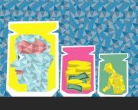 3业务设计的事与金刚石pattren 免版税图库摄影