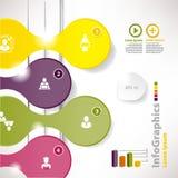 业务设计的现代infographic模板与分界 库存照片