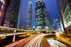 业务量和都市在晚上 图库摄影