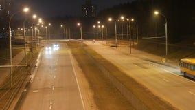 业务量在城市 大道定期流逝 影视素材