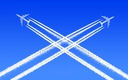 业务量在天空中 免版税库存图片