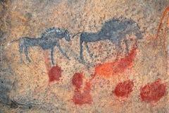 丛林居民岩石绘画 库存图片