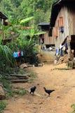 东亚村庄和人们-卡伦ethnie在泰国 免版税库存图片