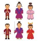 东亚-日本韩国中国蒙古人 库存图片