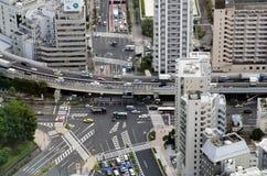 东京交叉点从上面 免版税图库摄影