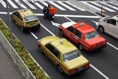 东京出租汽车 库存照片