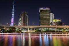 东京在晚上 库存照片