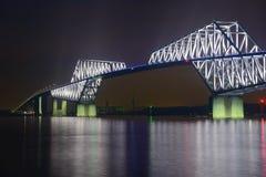 东京在黄昏的门桥梁 免版税库存图片