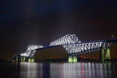 东京在黄昏的门桥梁 库存图片