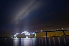 东京在黄昏的门桥梁 免版税图库摄影