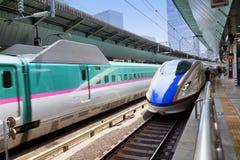 东京地平线和彩虹桥有都市风景的在Odaiba日本 库存照片