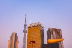 东京地平线的看法 库存照片