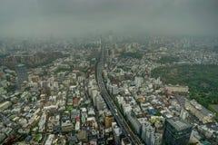 东京地平线视图雾覆盖薄雾 图库摄影