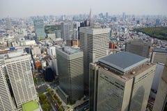 东京地平线 从市政厅观察台的看法  库存图片
