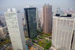 东京地平线 从市政厅观察台的看法  免版税库存照片