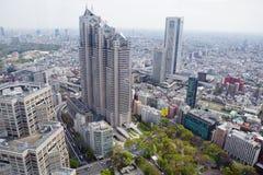 东京地平线 从市政厅观察台的看法  库存照片