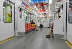 东京地铁运输系统里面看法在东京 库存图片