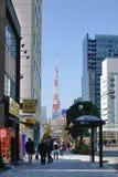 东京塔在东京,日本 免版税图库摄影