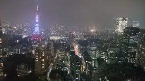 东京夜场面 免版税图库摄影