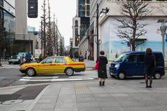 东京大厦和路作为街道日本人生活方式 旅行亚洲都市风景2017年3月31日的 库存照片