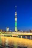 东京天空树照明在日本 图库摄影
