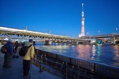 东京天空树看法  库存图片