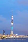 东京天空树看法 免版税图库摄影