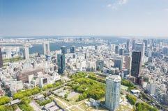 东京市鸟瞰图在日本 库存图片