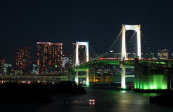 东京彩虹桥梁 免版税库存图片