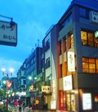 东京掀动转移 库存照片