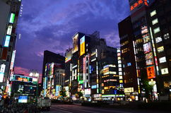 东京新宿Nightview 库存照片