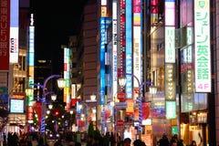 东京氖 免版税图库摄影